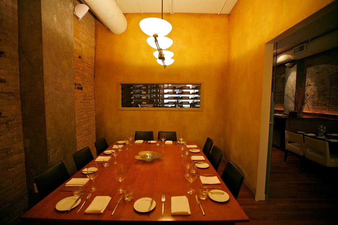 Blink restaurant bar for Best private dining rooms calgary